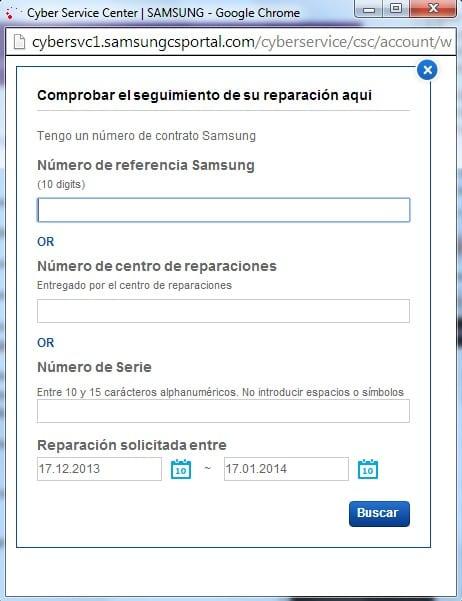 Centro reparaciones Samsung