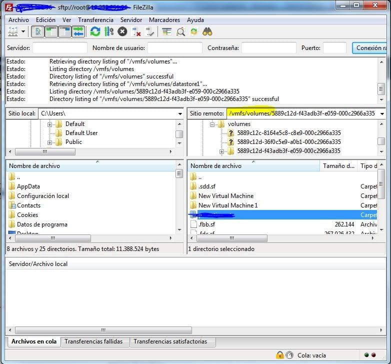 Lanzar fichero install.sh en servidor VMware ESXi 3