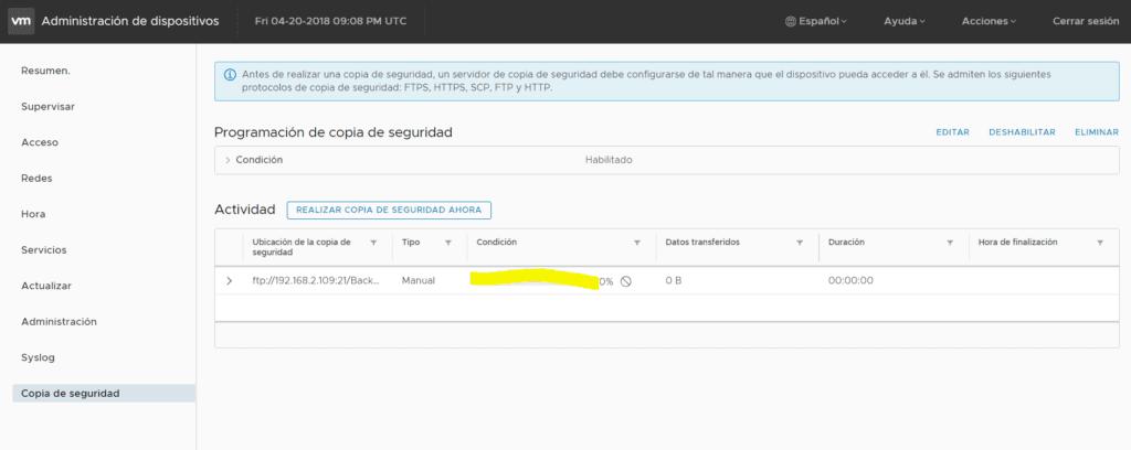 backup-configuracion-vmware-vcenter-7