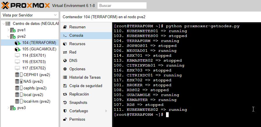 proxmox-gestion-con-scrypt-python-proxmoxer