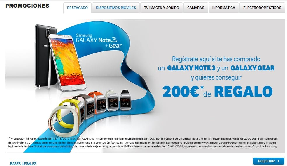 Promoción Note3 - 200€