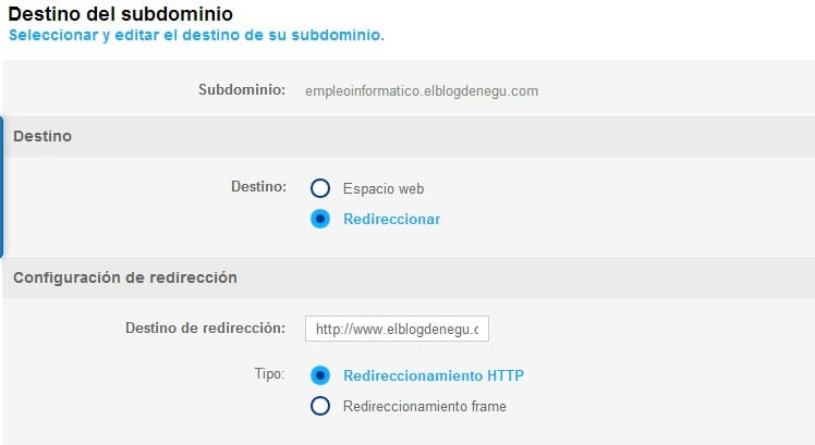 Redirección HTTP