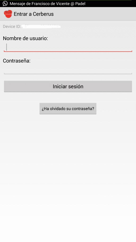 Cerberus-Usuario-Contraseña