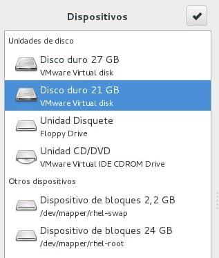 Espacio disco RHEL 7 Beta