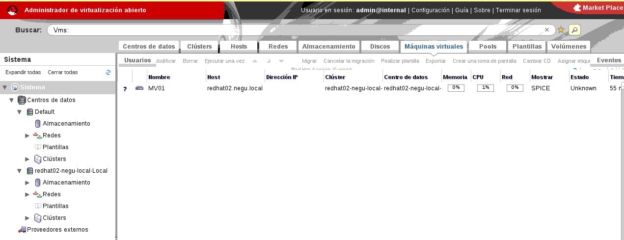 Instalación de Red Hat Enterprise Virtualization Manager