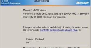 Versión Windows vía comando