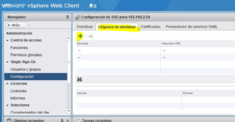 Integración directorio activo vCenter 2