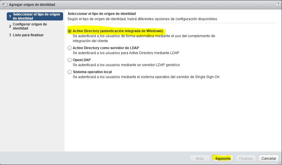 Integración directorio activo vCenter 3