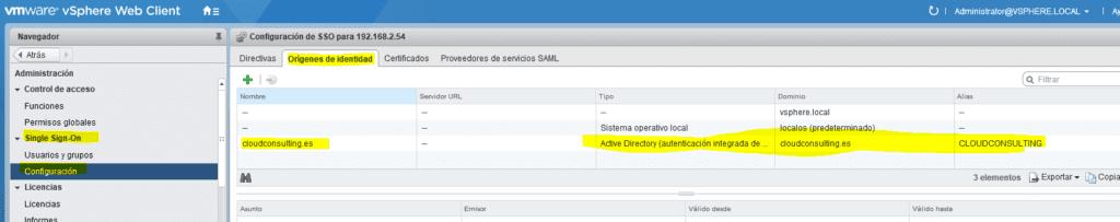 Integración directorio activo vCenter 6
