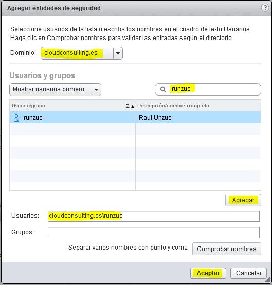 Integración directorio activo vCenter 8