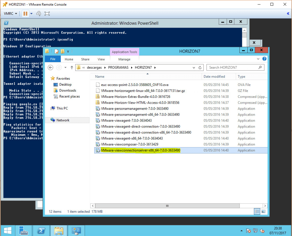 install-vmware-horizon-7-1