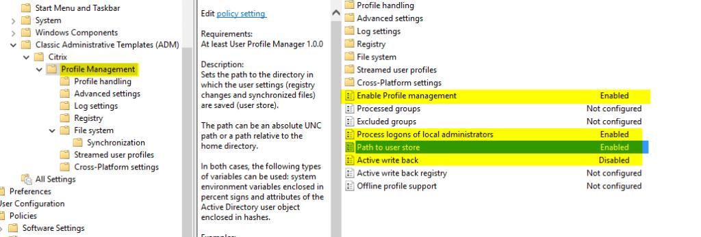 Configurar-Citrix-UPM-30