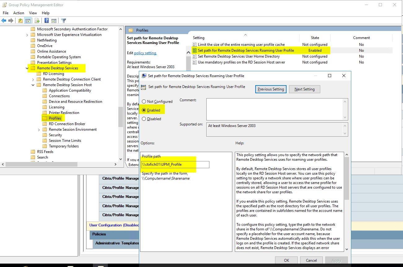 Configurar Citrix UPM - Blog VMware y Citrix