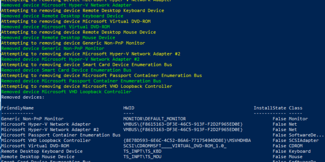 Powershell: Borrar dispositivos ocultos - Blog VMware y Citrix